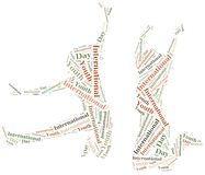 Word cloud illustration related to International Youth Day Royalty Free Stock Photography