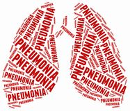 Word cloud illustration related to pneumonia. Royalty Free Stock Image