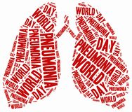Word cloud illustration related to pneumonia. Tag cloud illustration related to pneumonia Royalty Free Stock Image