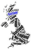 Word cloud illustration related to Scotland Royalty Free Stock Images