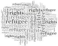 Word cloud illustration related to world refugee day Stock Images