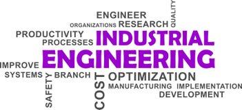 Word cloud - industrial engineering. A word cloud of industrial engineering related items stock illustration
