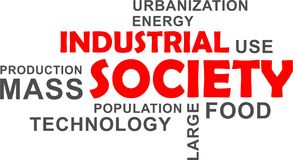 Word cloud - industrial society. A word cloud of industrial society related items royalty free illustration