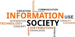 Word cloud - information society Royalty Free Stock Photo