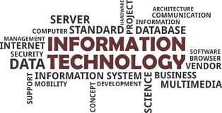 Word cloud - information technology Royalty Free Stock Image