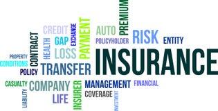 Word cloud - insurance Stock Image
