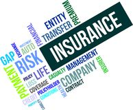 Word cloud - insurance Stock Photos