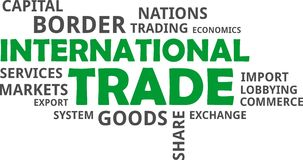 Word cloud - international trade Royalty Free Stock Photo
