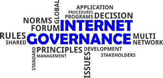 Word cloud - internet governance Stock Photography