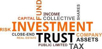 Word cloud - investment trust Stock Photos