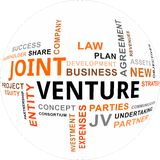 Word cloud - joint venture. A word cloud of joint venture related items Stock Images