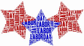 Word cloud labour day related Royalty Free Stock Photography
