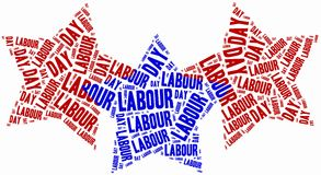 Word cloud labour day related in shape of stars Royalty Free Stock Image