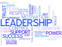 Word Cloud Leadership Stock Images