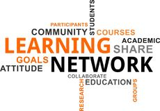 Word cloud - learning network Stock Images