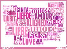 Word Cloud Love Stock Photography