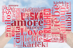 Word Cloud Love Royalty Free Stock Image