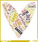 Word Cloud Love Stock Photo