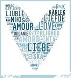 Word Cloud Love Stock Image