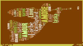 Word Cloud Love Stock Images