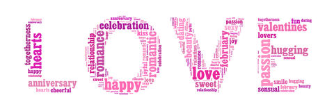 Word Cloud of Love Stock Photography