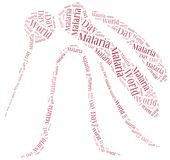 Word cloud malaria disease related Stock Images