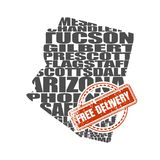 Word cloud map of Arizona state Royalty Free Stock Photography