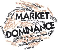 Word cloud for Market Dominance Stock Photo