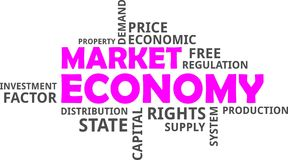 Word cloud - market economy. A word cloud of market economy related items royalty free illustration