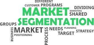 Word cloud - market segmentation Stock Photography