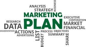 Word cloud - marketing plan Stock Photography