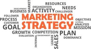 Word cloud - marketing strategy Stock Photos