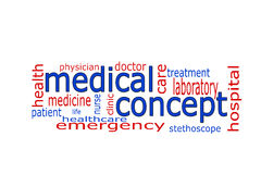 Word cloud - medical concept. On white Background Royalty Free Stock Photography