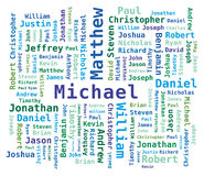 Word Cloud Men's Names Royalty Free Stock Photography