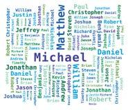 Word Cloud Men's Names stock illustration