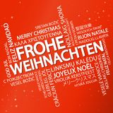 Word cloud Merry Christmas & x28;in German& x29; Royalty Free Stock Photo