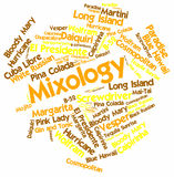 Word cloud for Mixology. Abstract word cloud for Mixology with related keywords and terms royalty free illustration
