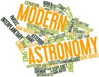 Word cloud for Modern Astronomy. Abstract word cloud for Modern Astronomy with related tags and terms royalty free illustration