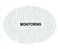 Word cloud monitoring Stock Photo