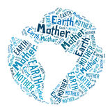 Word cloud - mother earth Royalty Free Stock Images