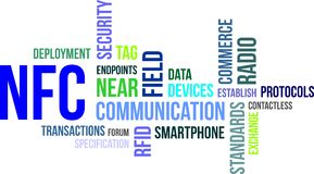 Word cloud - near field communication Royalty Free Stock Images