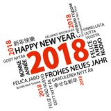 Word cloud with new year 2018 greetings. And white background Stock Image