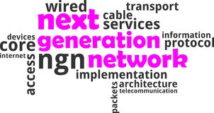 Word cloud - next generation network Stock Photos