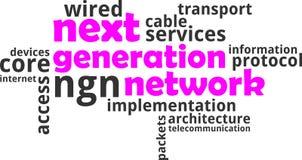 Word cloud - next generation network stock photos