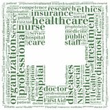 Word cloud NHS or public health service related Stock Photo