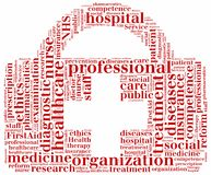 Word cloud NHS or public health service related Royalty Free Stock Photos