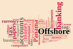 Word cloud on Offshore Companies. Royalty Free Stock Images