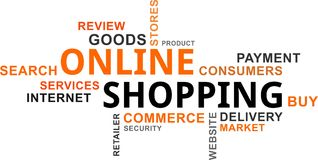 Word cloud - online shopping Royalty Free Stock Image