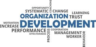 Word cloud - organization development. A word cloud of organization development related items stock illustration