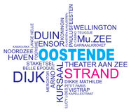 Word cloud ostend, dutch Stock Photography